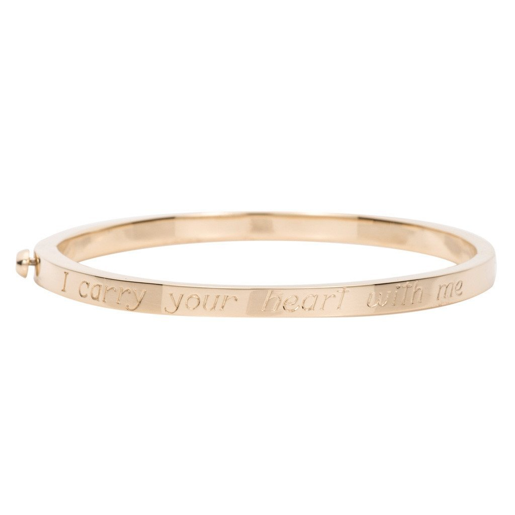 Poesy Signet Bangle -- Ariel Gordon Jewelry