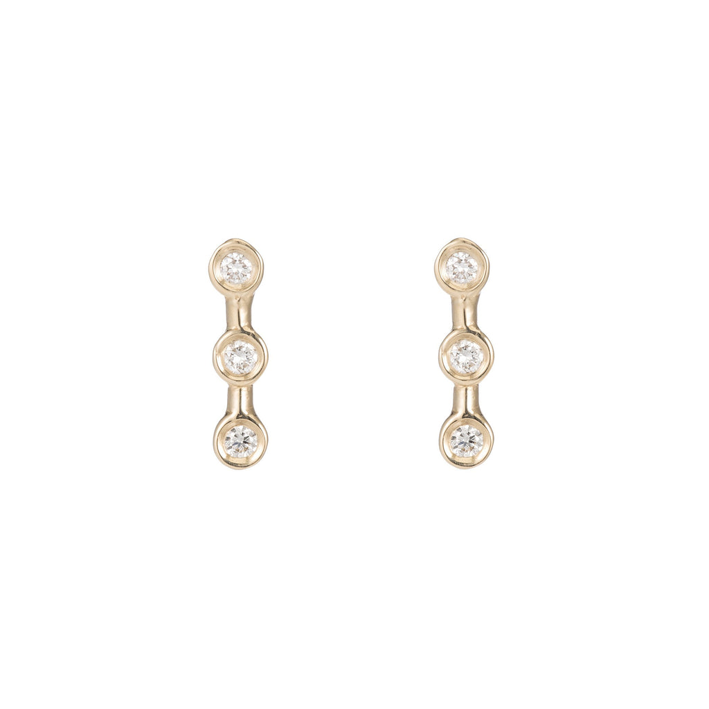 Mini Diamond Horizon Studs