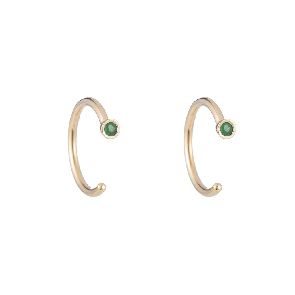 Dual Birthstone Dust Hoops