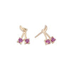 Ruby Cherry Bomb Studs -- Ariel Gordon Jewelry