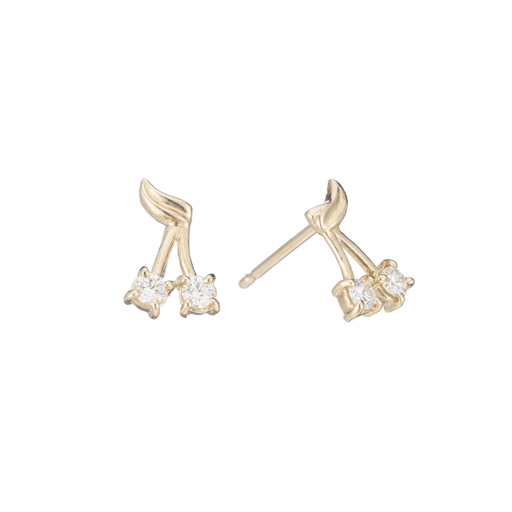 Diamond Cherry Bomb Studs -- Ariel Gordon Jewelry