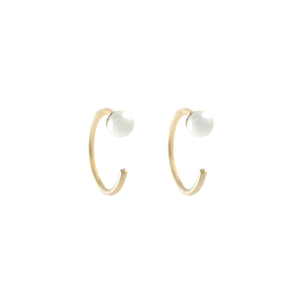 Pearl Dust Hoops -- Ariel Gordon Jewelry