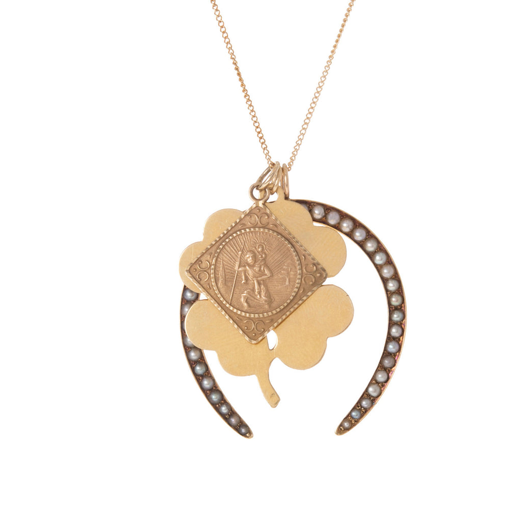9k St Christopher Charm -- Ariel Gordon Jewelry