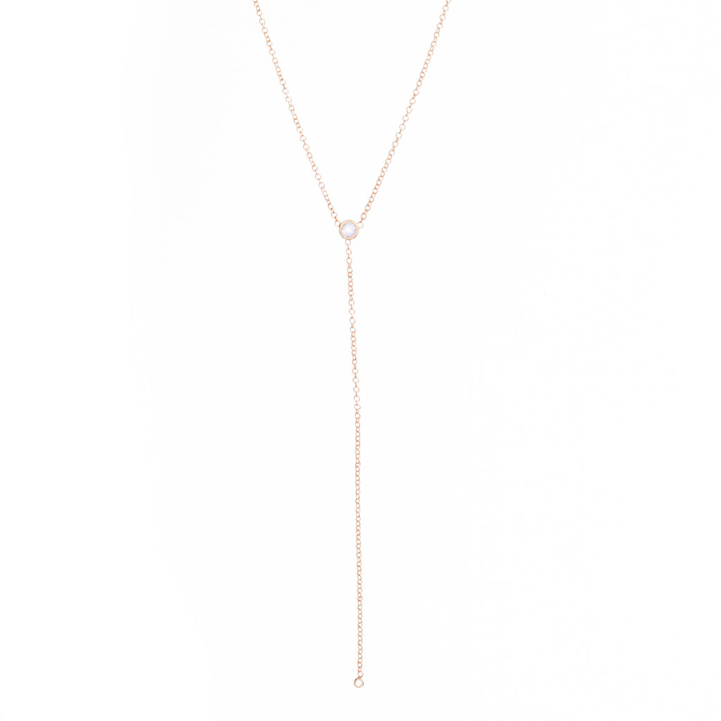 Diamond Lariat Necklace -- Ariel Gordon Jewelry