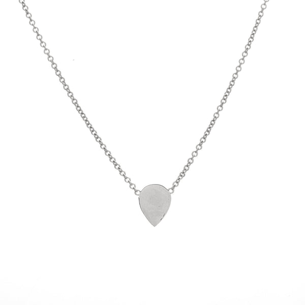 Silver Teardrop Charm Necklace