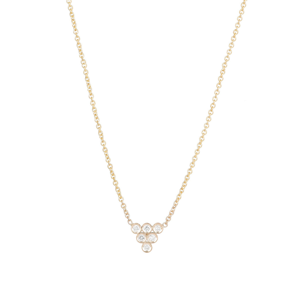 Diamond Triad Necklace -- Ariel Gordon Jewelry