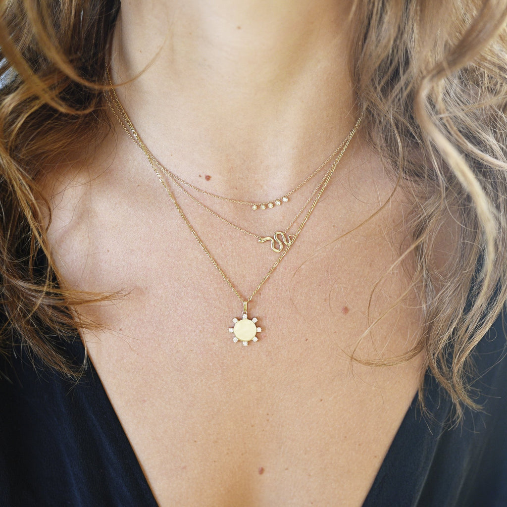 Mini Diamond Dash Necklace
