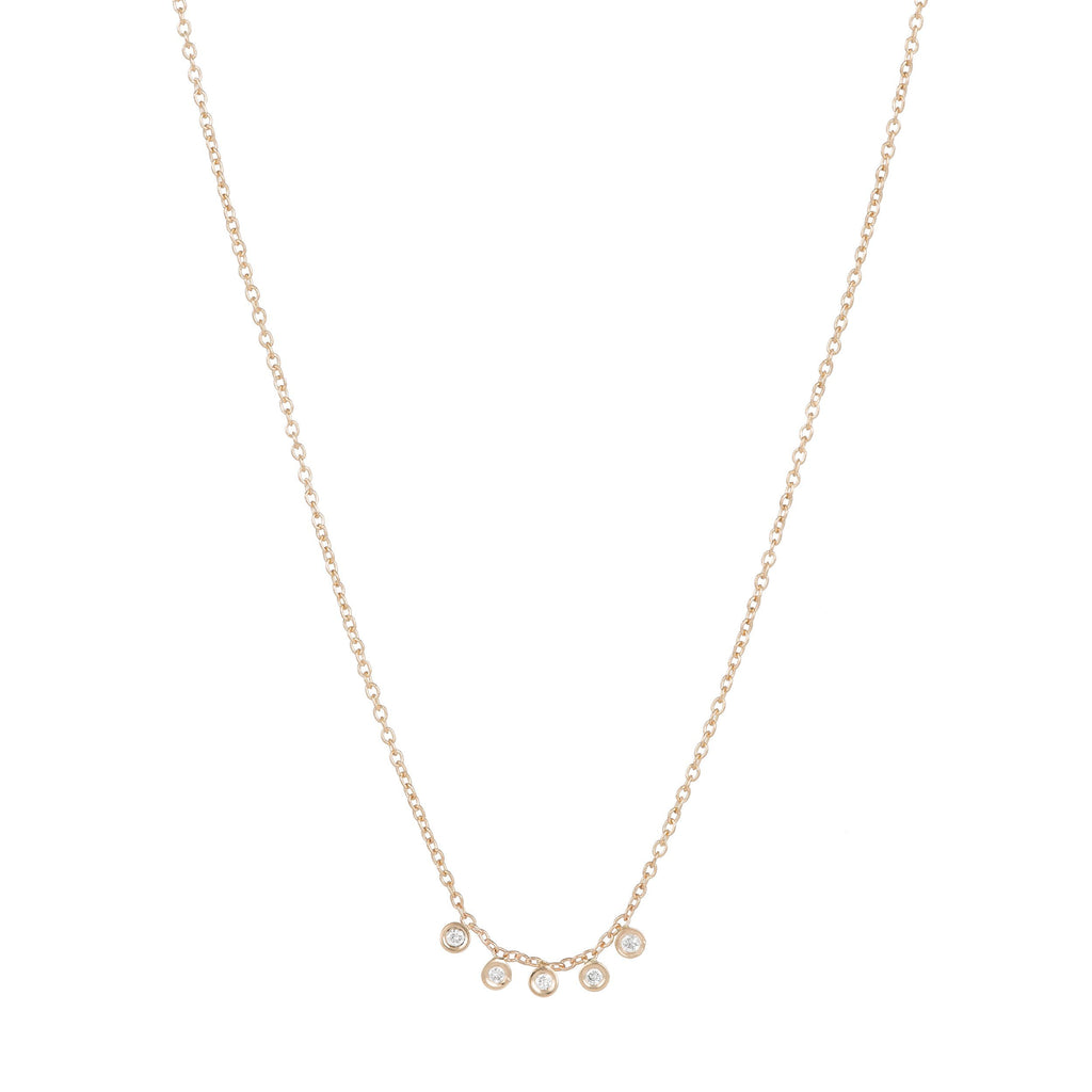 Mini Diamond Dash Necklace -- Ariel Gordon Jewelry