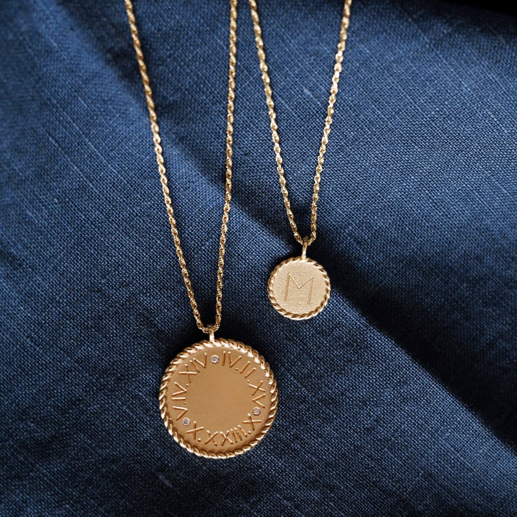 Mini Imperial Disc Pendant Necklace