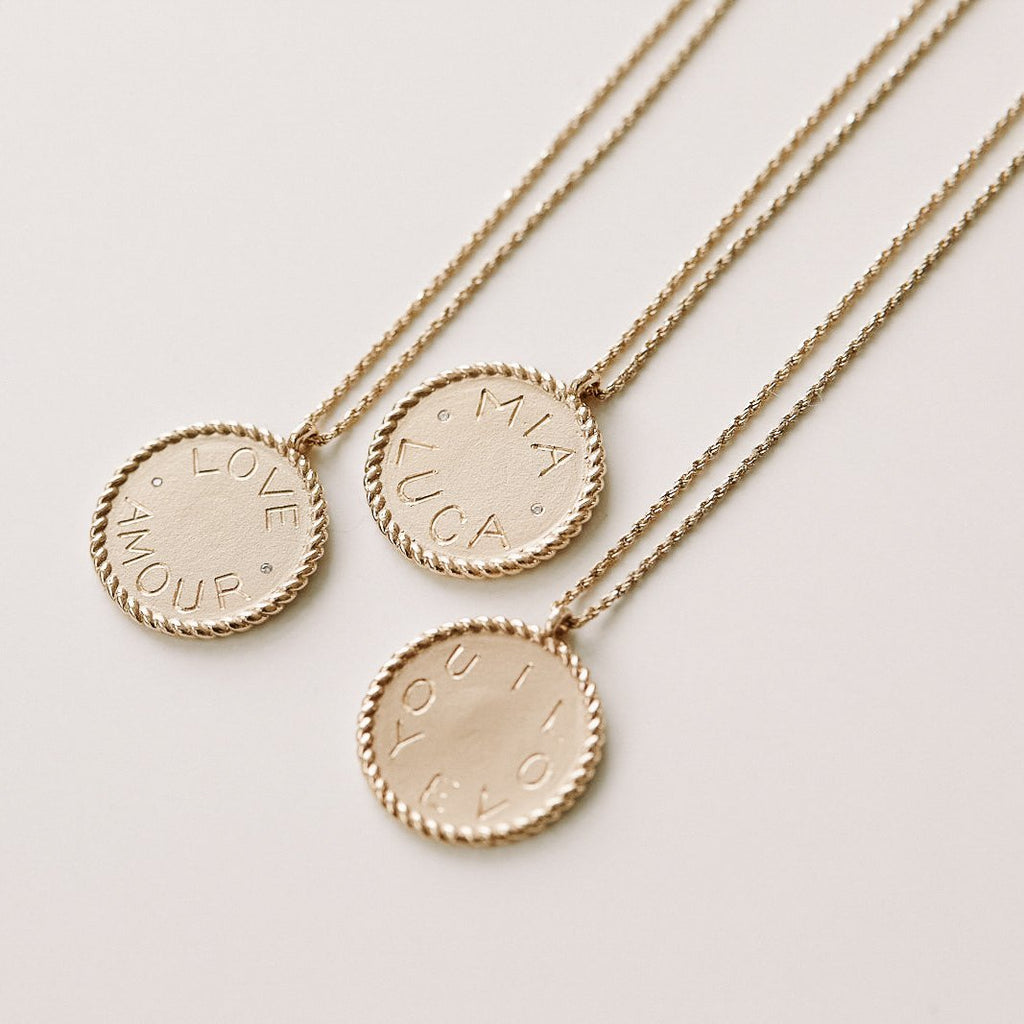 Imperial Disc Pendant Necklace