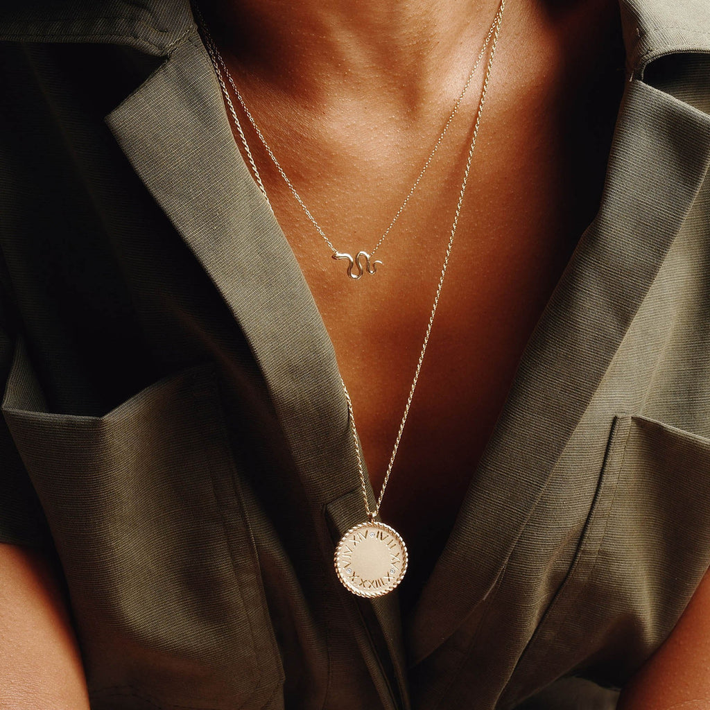 Imperial Disc Pendant Necklace -- Ariel Gordon Jewelry