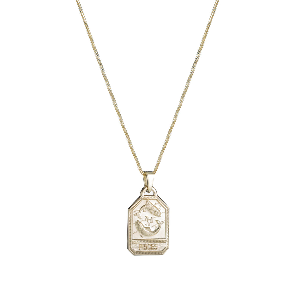 Zodiac Dog Tag Necklace -- Ariel Gordon Jewelry