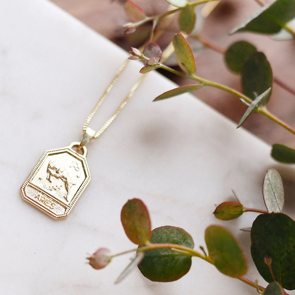 Zodiac Dog Tag Necklace