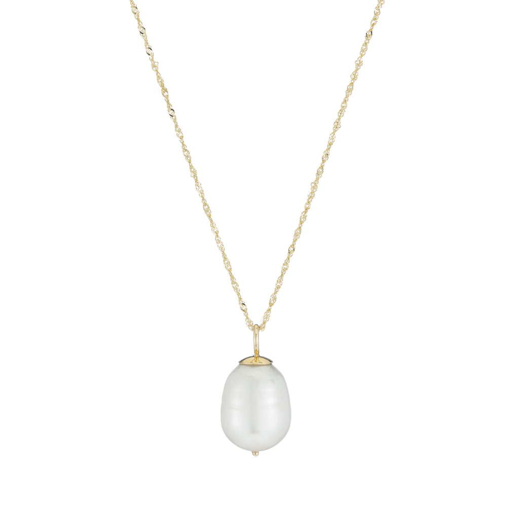 Baroque Pearl Drop Necklace