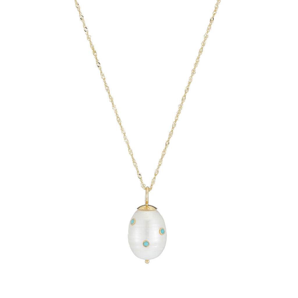 Stone Baroque Pearl Drop Necklace -- Ariel Gordon Jewelry