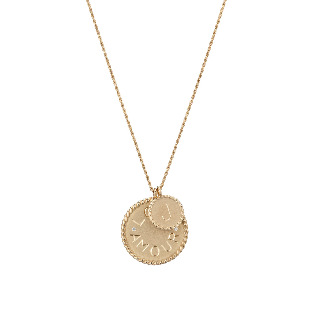 Mini Imperial Disc Pendant Necklace -- Ariel Gordon Jewelry