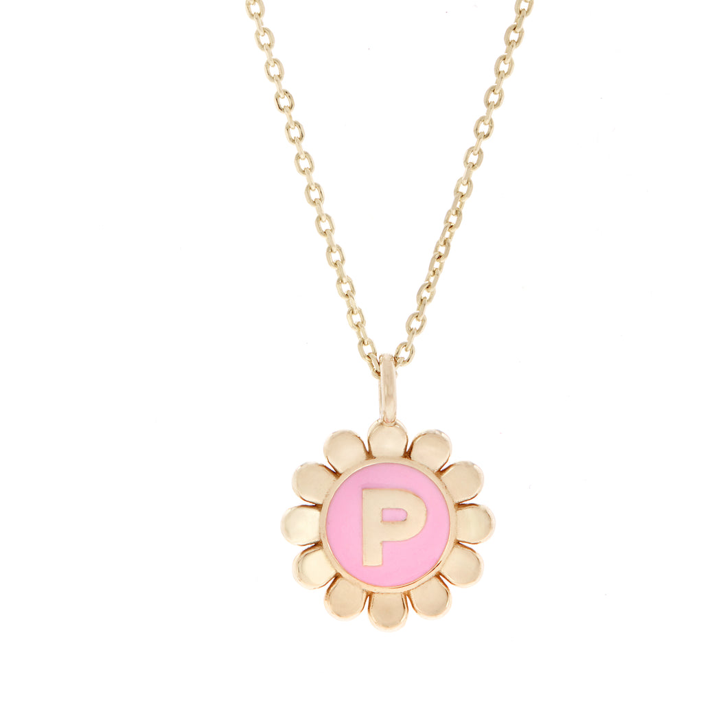 Daisy Initial Pendant Necklace -- Ariel Gordon Jewelry