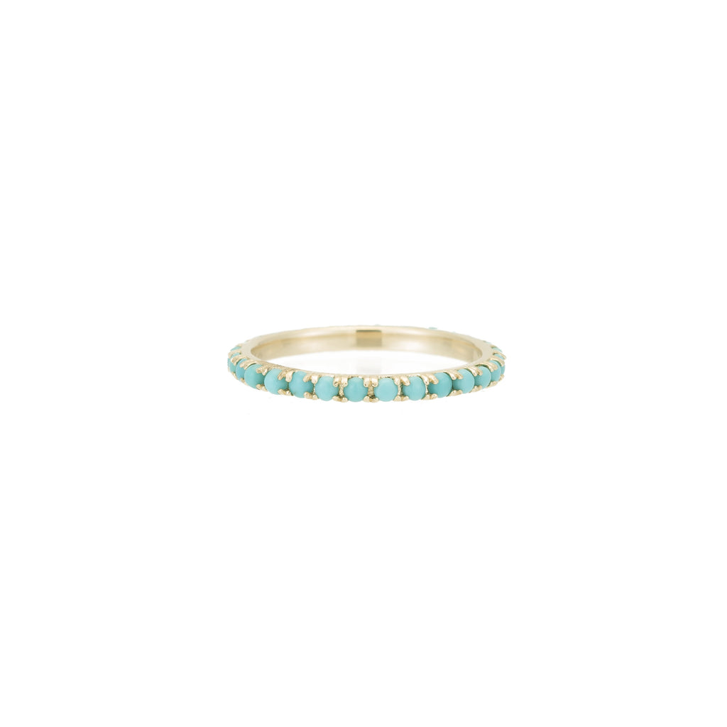 Turquoise Eternity Band -- Ariel Gordon Jewelry