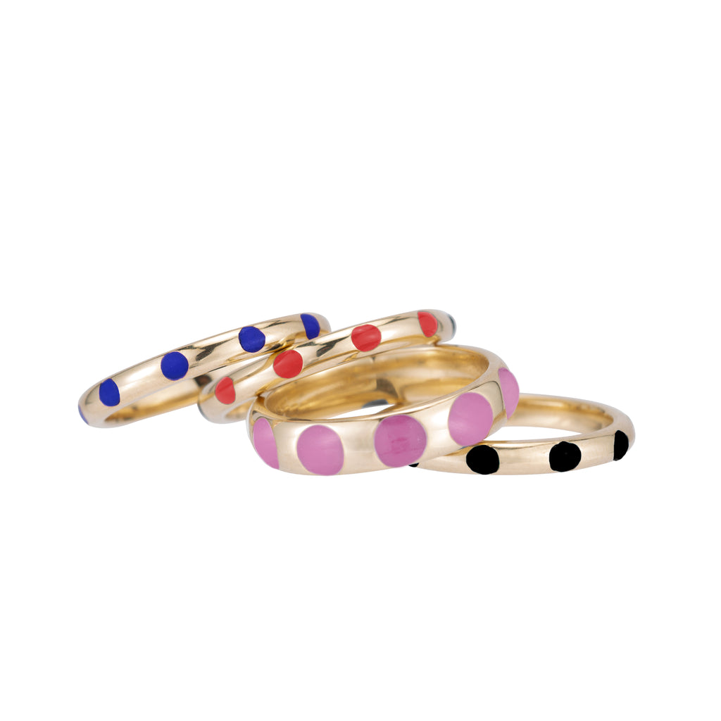 Mini Dottie Enamel Ring -- Ariel Gordon Jewelry