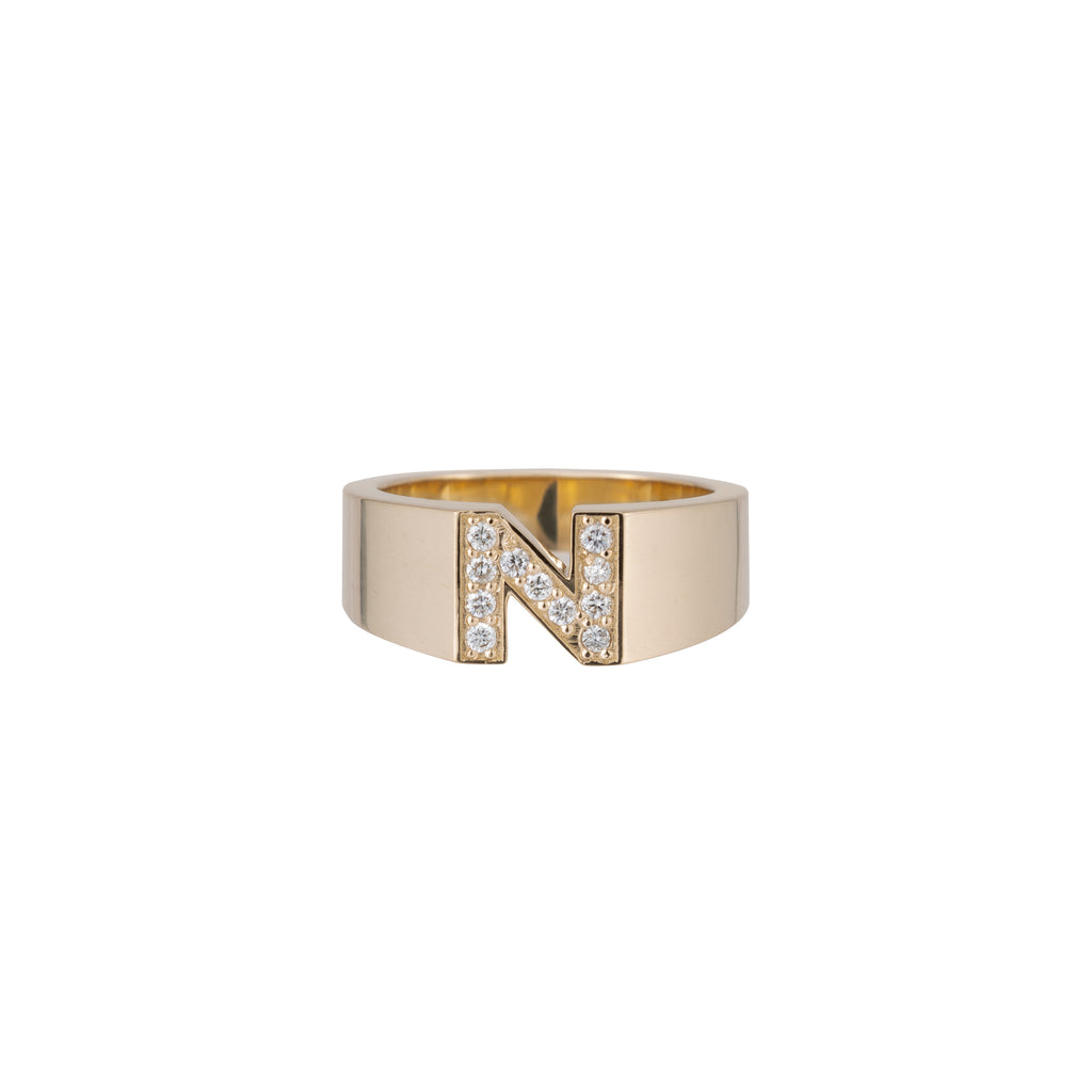 Pave Letter Ring -- Ariel Gordon Jewelry