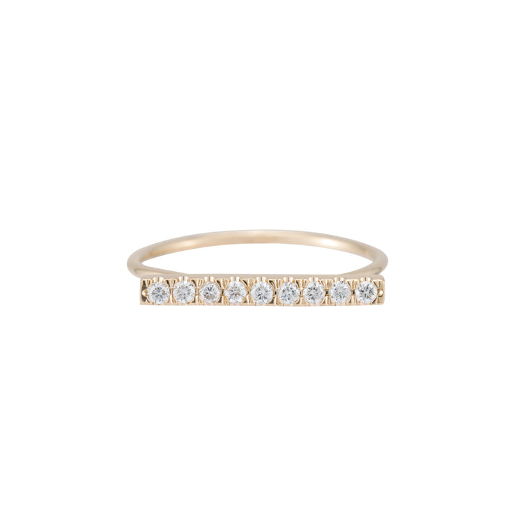 Fine Line Pave Ring