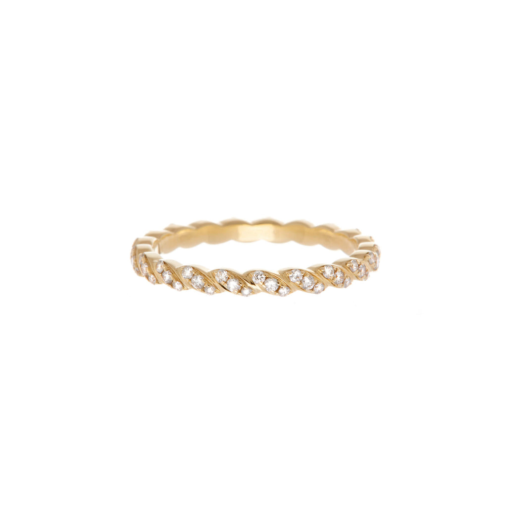 Pave Twine Eternity Band