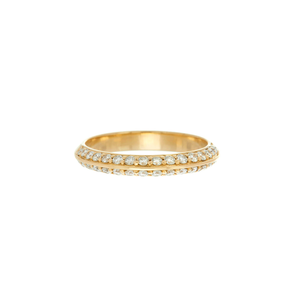 Pave Knife Edge Ring -- Ariel Gordon Jewelry