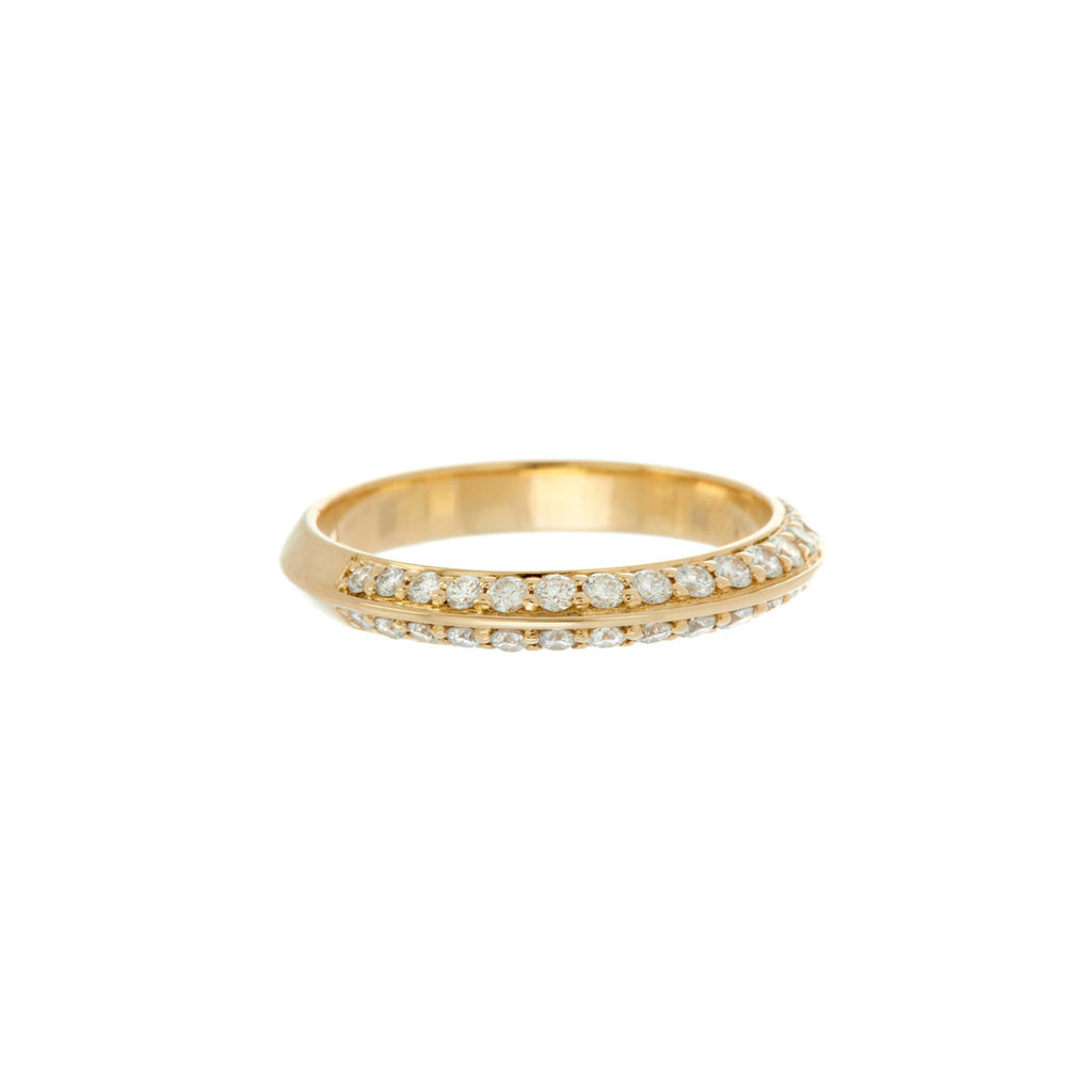 Pave Knife Edge Ring