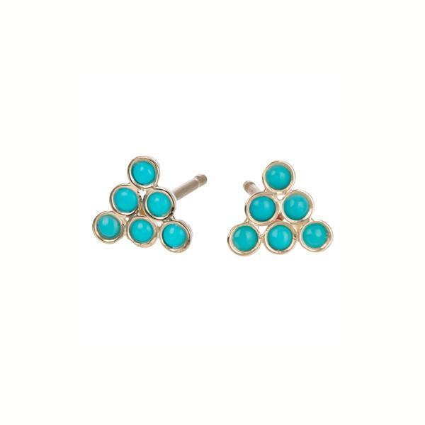 Turquoise Triad Studs