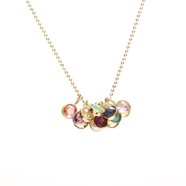 Mini Rose Cut Birthstone Necklace