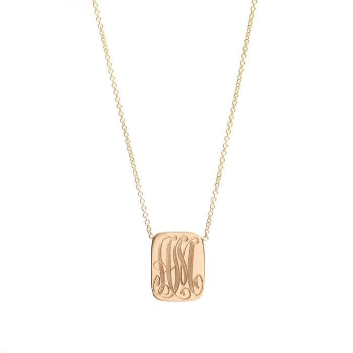 Signet Dog Tag Necklace
