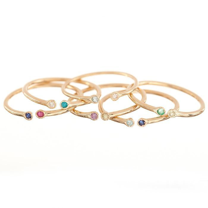 Dual Birthstone Ring -- Ariel Gordon Jewelry