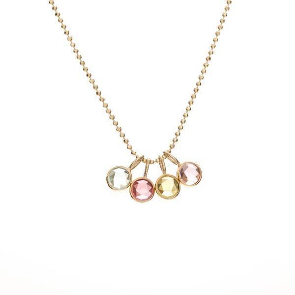 Mini Rose Cut Birthstone Necklace -- Ariel Gordon Jewelry