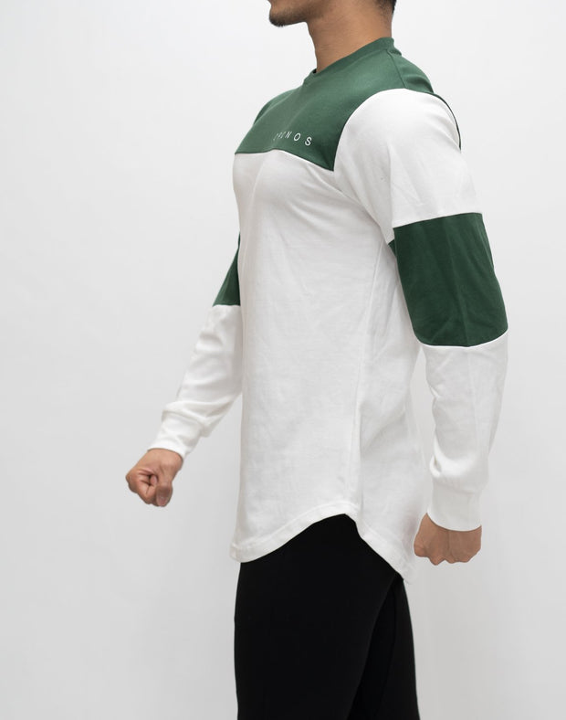 CRONOS NEW BICOLOR  LONG SLEEVE【WHITE×GREEN】