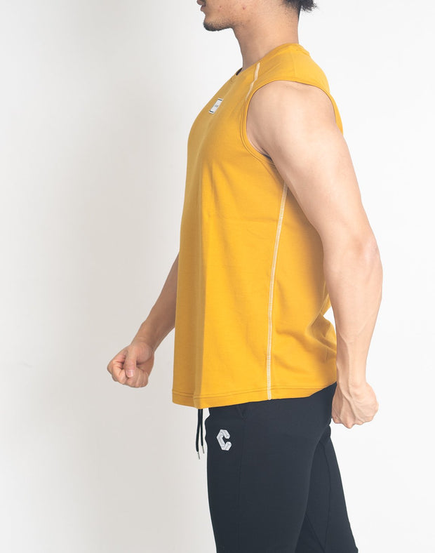 FRONT PATCH LOGO SLEEVELESS【YELLOW】
