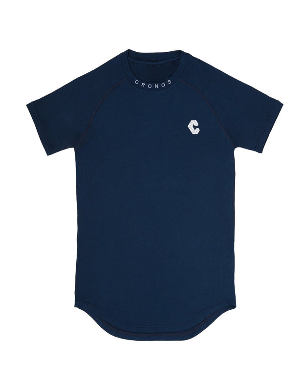 "CRONOS ""OUTLAST"" NECK LOGO T-SHIRTS【NAVY】"