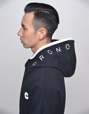 CRONOS NECK BUTTON HOODY【RED】