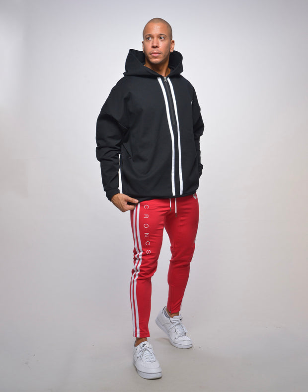 CRONOS SIDE 2STRIPES PANTS【RED】