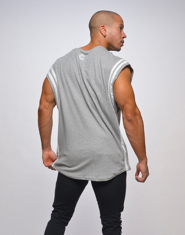 CRONOS SHOULDER ROUND LINE TOPS【GRAY】
