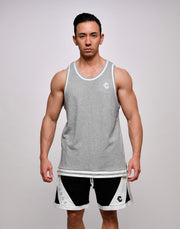 CRONOS STRIPE SLEEVELESS【GRAY】