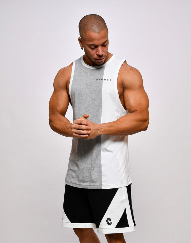 CRONOS SWITCHED SLEEVELESS【GRAY】