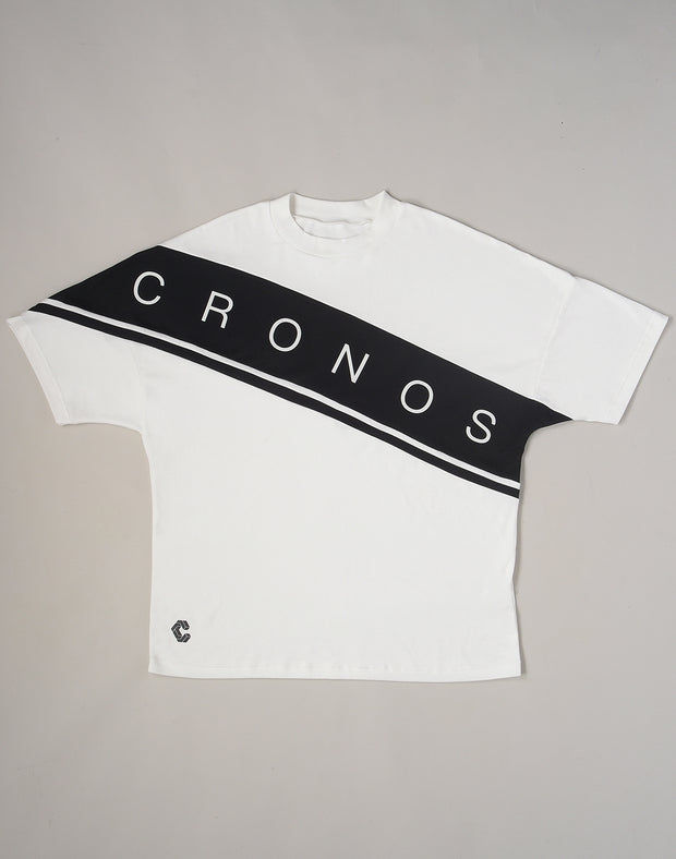 CRONOS SWITCHED OVERSIZE T-SHIRTS【WHITE】