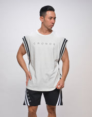 CRONOS SHOULDER ROUND LINE TOPS【WHITE】
