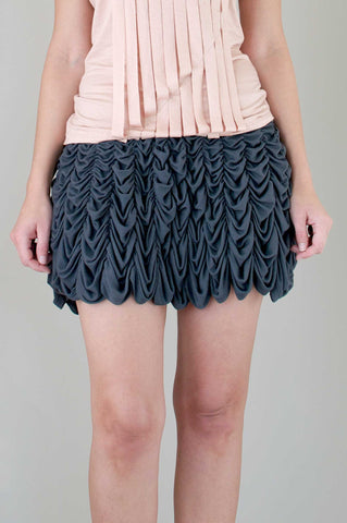 Red Hummingbird Skirt in Slate