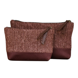 "Accessory bags ""Brown"" (Set of 2) (L&S)"