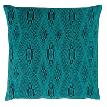 "Load image into Gallery viewer, Cushion cover ""Vietnamese Diamond"" (Aqua)"
