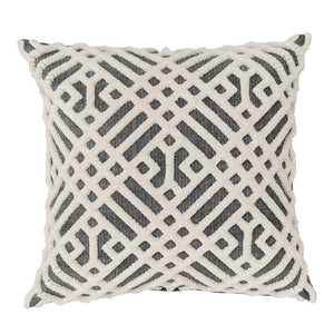 "Cushion cover ""Chenille"" (White/Gray)"