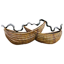"Load image into Gallery viewer, Rattan basket ""Howdah"" (M)"