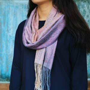 "Silk/cotton scarf ""Lilac"""
