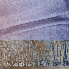 "Load image into Gallery viewer, Silk/cotton scarf ""Lilac"""